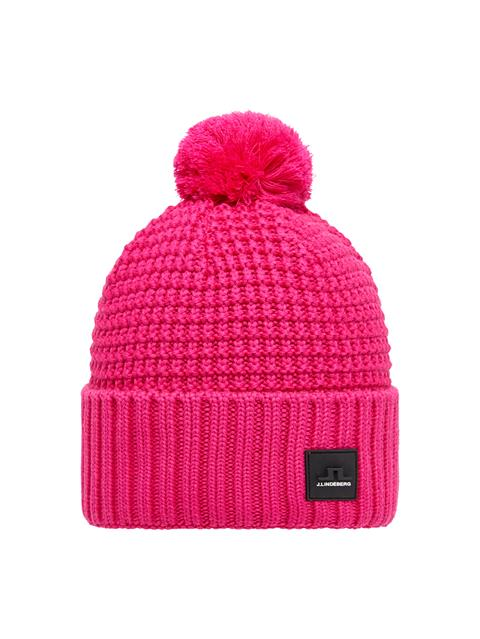 Mens Ball Wool Hat Hot Pink