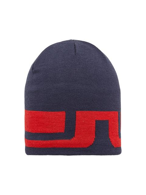 Mens Bridge Striped Wool Hat JL Navy