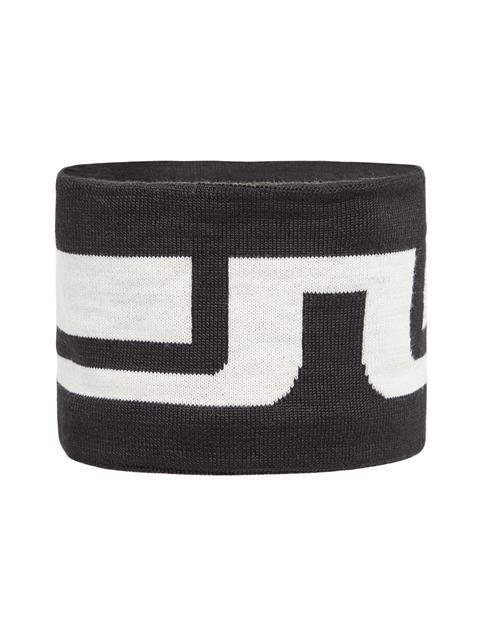 Mens Bridge Striped Wool Headband Black