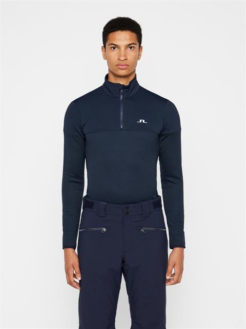 Mens Hubbard Quarter Zip Midlayer JL Navy