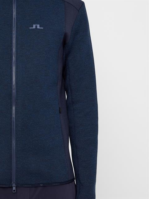 Mens Douglas Tech Sweat Hoodie Navy Melange