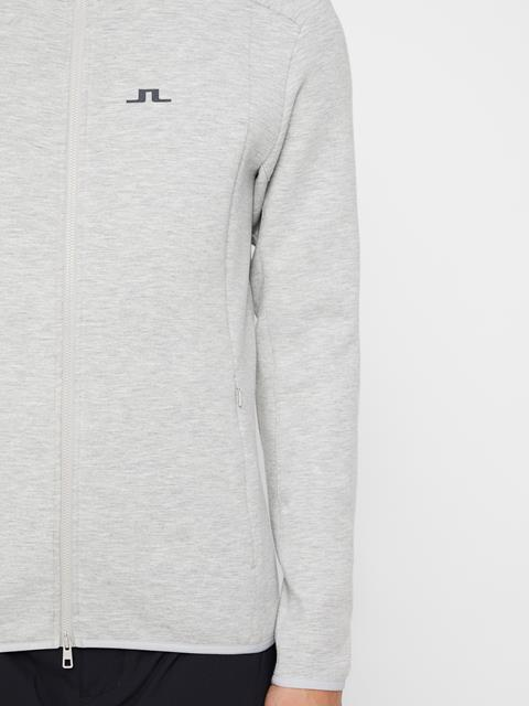 Mens Douglas Tech Sweat Hoodie Stone Grey Melange
