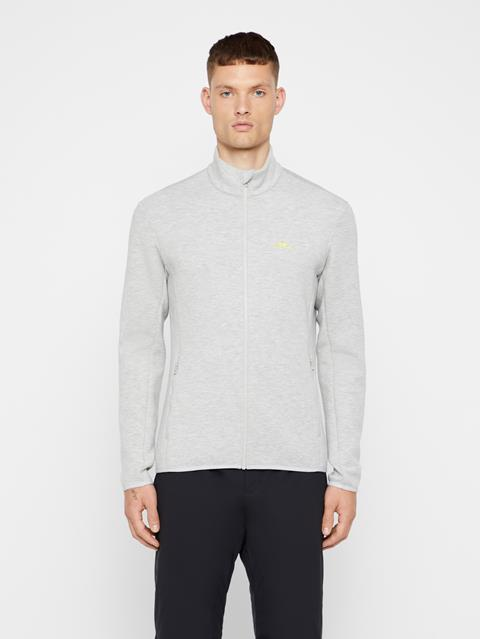 Mens Nigel Tech Sweat Mid-Jacket Stone Grey Melange