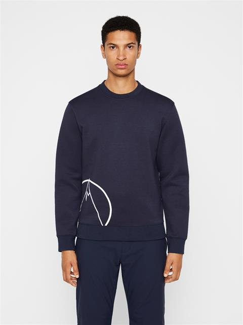 Mens Bute Tech Sweat Midlayer JL Navy