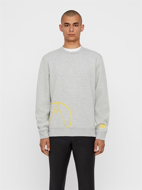 Mens Bute Tech Sweat Midlayer Stone Grey Melange