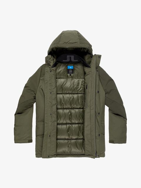 Mens Radiator Down Parka Forest Green