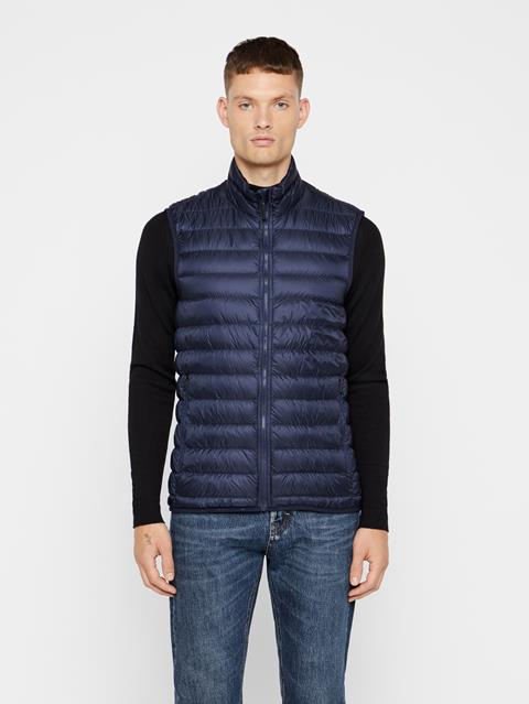 Mens Light Down Vest JL Navy