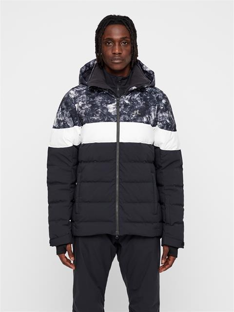Mens Russel Printed 2-Layer Down Jacket Glacier Grey