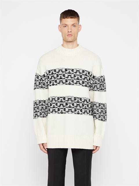 Mens Bridge Wool Sweater Cloud White