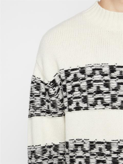 Mens Bridge Wool Sweater Cloud White
