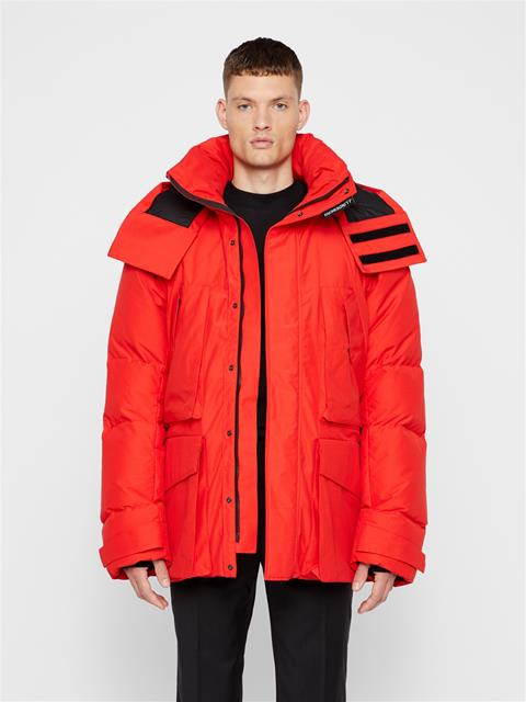 Mens Cannon Textured Cony Coat Racing Red