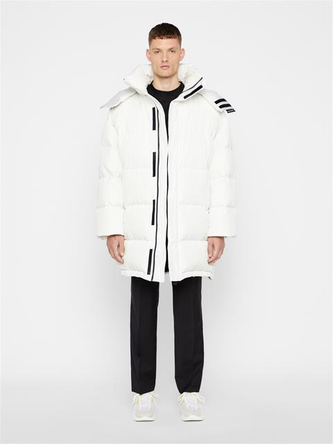 Mens Tharp Down Coat Cloud White