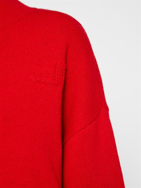 Womens Bridge Wool Sweater Racing Red