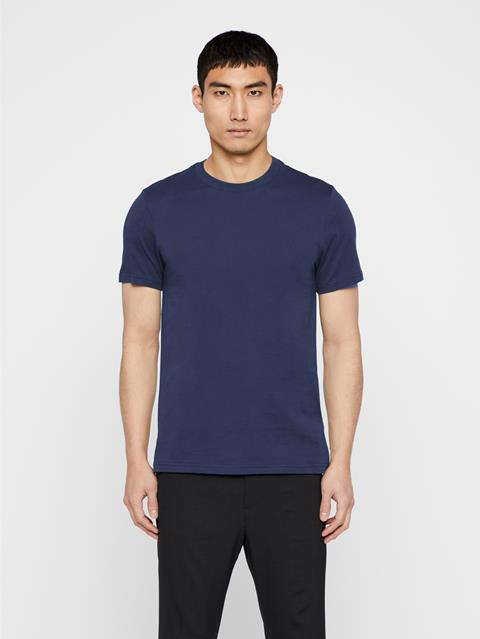 Mens Silo Cotton T-shirt Mid Blue