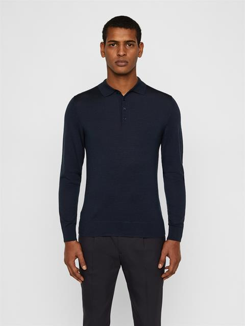 Mens Luciano Wool Silk Sweater JL Navy