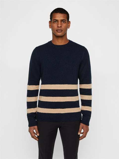 Mens Bot Soft Wool Sweater JL Navy