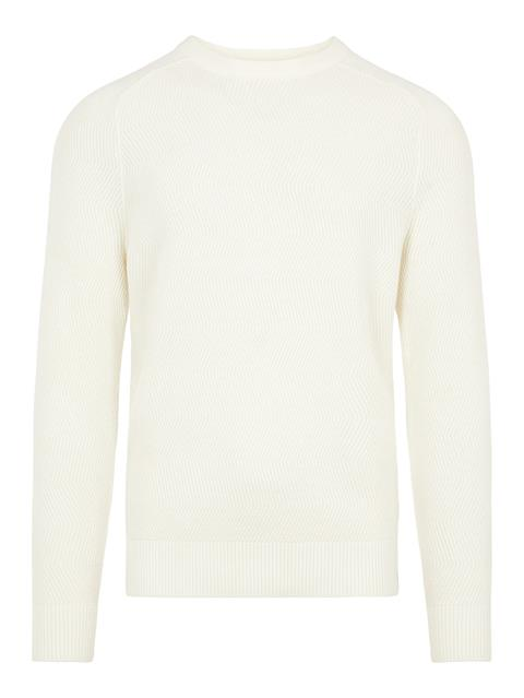 Mens Randers Cotton Wool Sweater Cable White
