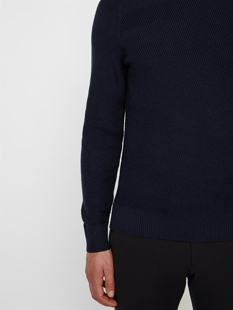 Mens Randers Cotton Wool Sweater JL Navy
