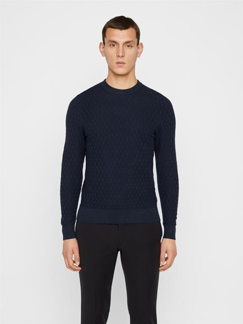 Mens Arthur Structure Sweater JL Navy