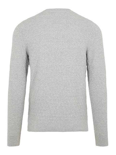 Mens Arthur Structure Sweater Lt Grey Melange