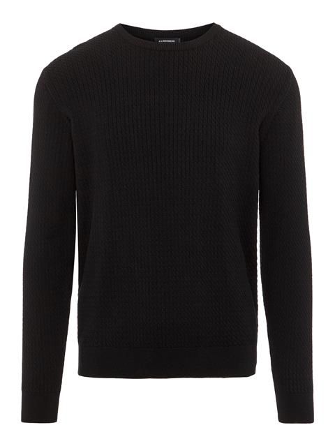 Mens Andy Structure Sweater Black