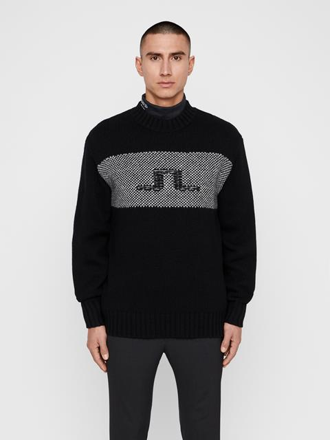 Mens Antonio Wool Sweater Black