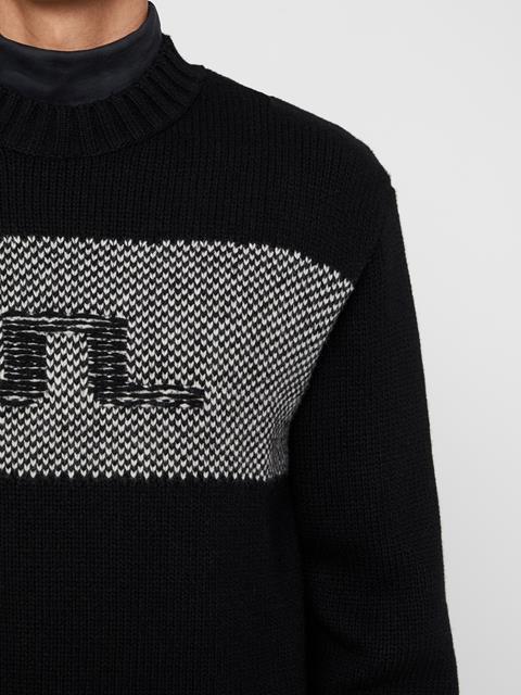 Mens Antonio Wool Sweater Black