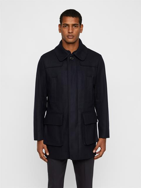 Mens Ivo Soft Melton Coat JL Navy