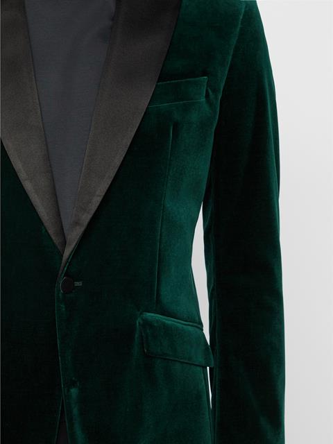 Mens Bob Tech Velvet Tux Jacket Fountain
