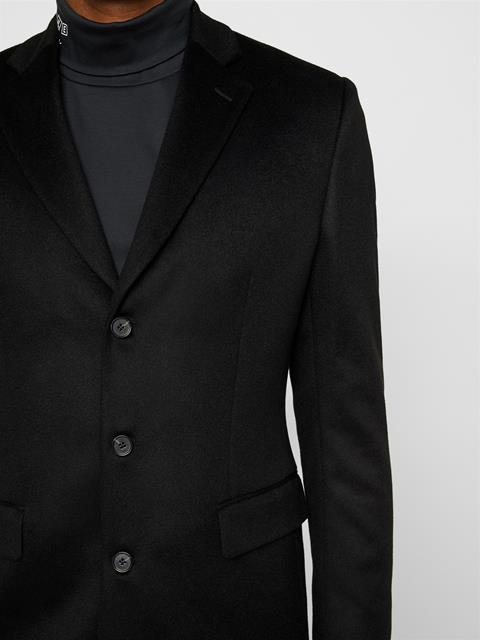 Mens Donnie Camel Wool Blazer Black