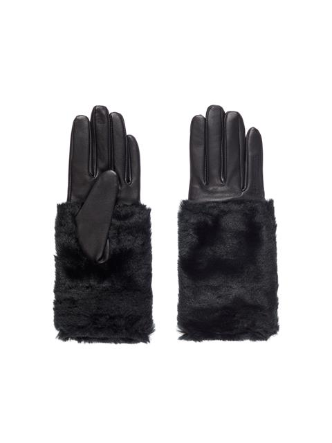 Womens Gloria Leather Gloves Black