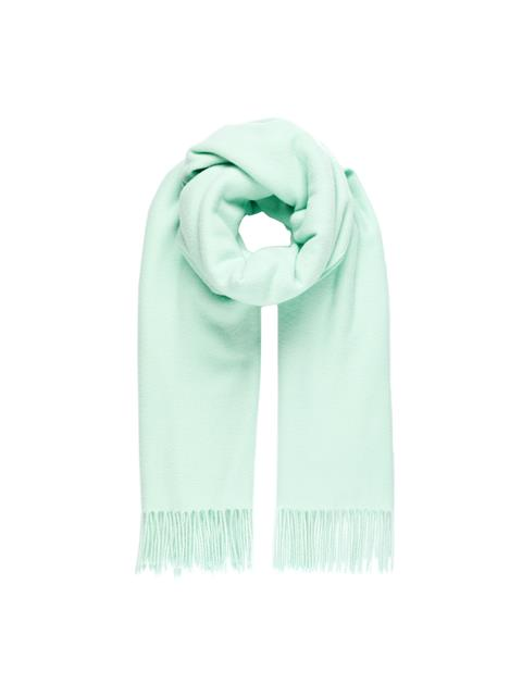 Womens Frame Solid Wool Scarf Menthol
