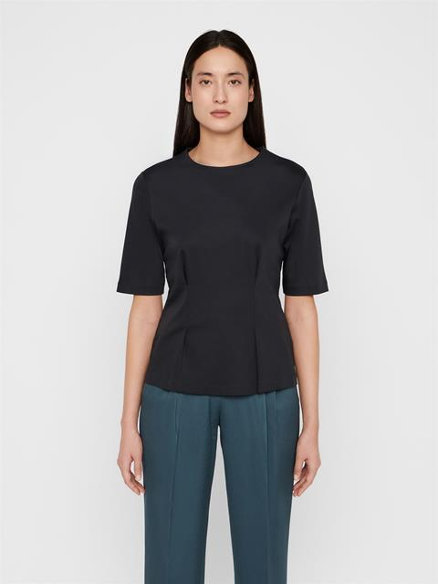Womens Emy Cotton T-shirt Black