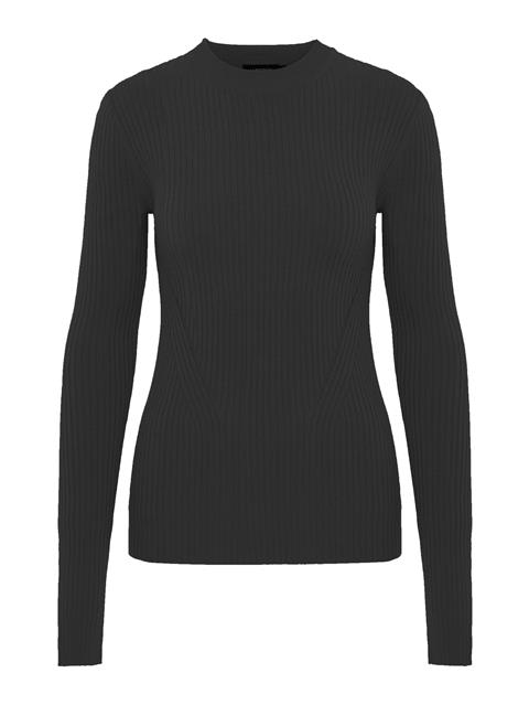 Womens Rita Drapy Ribbed Sweater Black