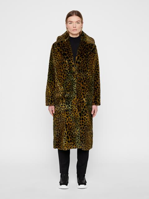 Womens Carmen Faux Fur Coat Faux Fur Dots
