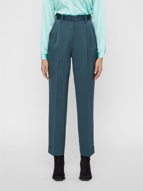 Womens Avalon Fluid Crepe Pants Fountain