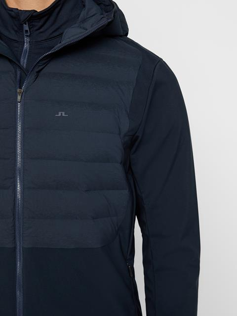 Mens Vertex Hooded Hybrid Down Jacket JL Navy