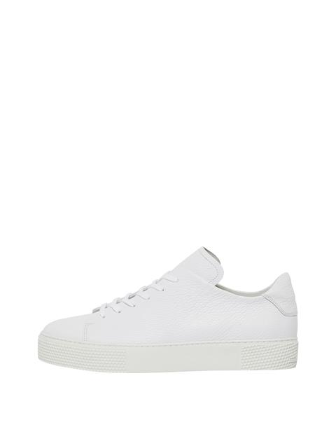 Mens Low Top Leather Sneakers White