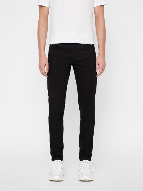 Mens Damien Black Stretch Jeans Black