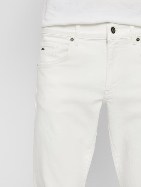 Mens Jay Solid Stretch Jeans Cloud White