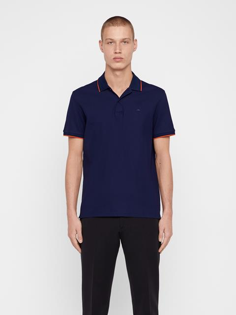 Mens Roy Pique Polo Mid Blue