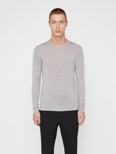 Mens Newman Wool Sweater Grey Melange
