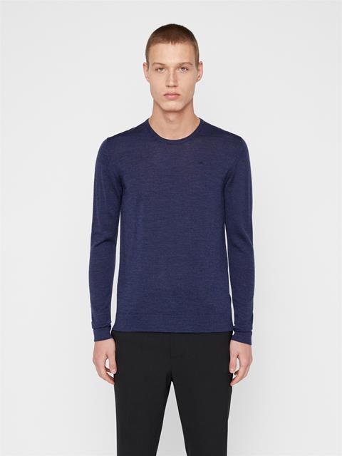 Mens Newman Wool Sweater JL Navy