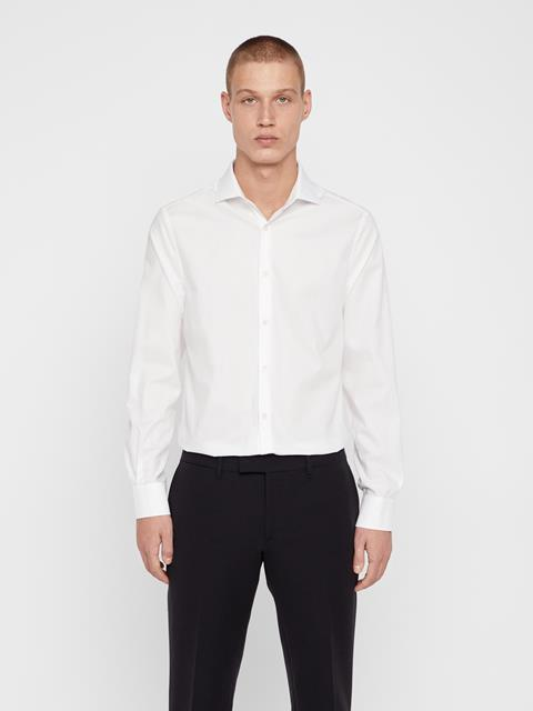 Mens Dan Non-Iron Twill Shirt White