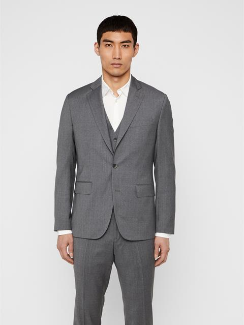 Mens Hopper Comfort Wool Blazer Stone Grey