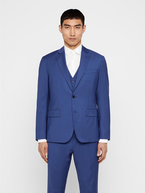 Mens Hopper Comfort Wool Blazer Yale Blue