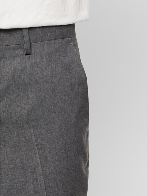Mens Paulie Comfort Wool Pants Stone Grey