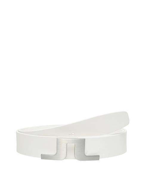 Mens Bridger Leather Belt White