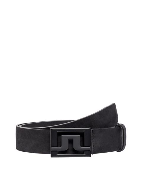 Mens Slater Brushed Leather Belt Black