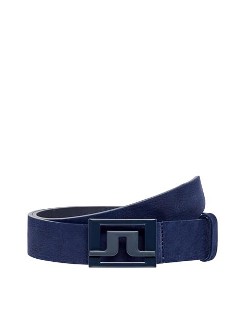 Mens Slater Brushed Leather Belt JL Navy